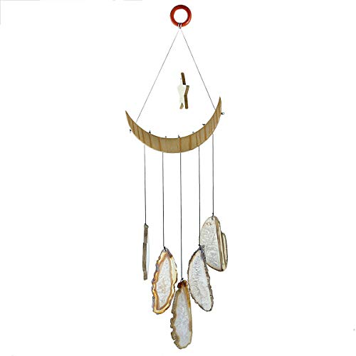 - Nupuyai Wind Chimes - Unique Agate Slices Geode Stone Wind Chimes Indoor Outdoor, Eye-Catching Decoration for Home Garden