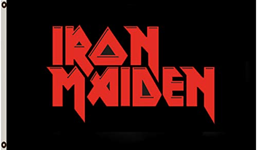 Iron Maiden Banners - Astany Iron Maiden Flag Banner 3x5 ft Rock Heavy Metal Band Banner
