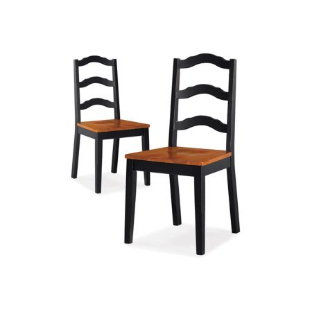 Better Homes and Gardens Autumn Lane Ladder Back Dining Chairs, Set of 2, Black from Better Homes & Gardens