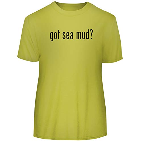 One Legging it Around got sea mud? - Men's Funny Soft Adult Tee T-Shirt, Yellow, X-Large