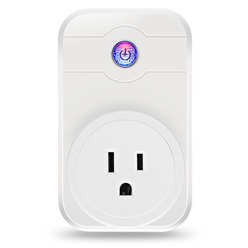 (Smart Plug, ELEGIANT 2.4ghz Wifi Smart Plug work with Alexa Wireless Remote Control Timer Turn On/Off Electrics for Household Appliances by Cellphone iPhone IOS/Android App Anywhere Anytime)