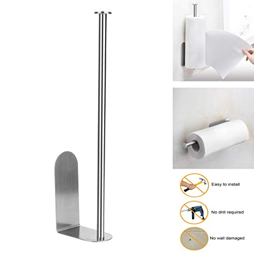 Bomden Vertical Diversified Paper Towel Holder Wall Mount Paper Holder Storage Rack