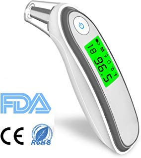 Forehead and Ear Thermometer, Digital Medical Infrared Fever Thermometers Instant Reading Suitable for Baby, Toddler and Adults with CE and RoHS Approved