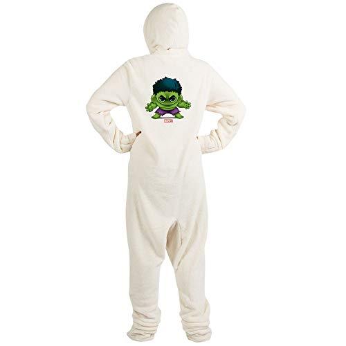 CafePress Hulk Stylized Novelty Footed Pajamas, Funny Adult One-Piece PJ Sleepwear Creme -