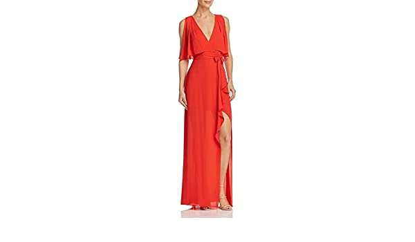 1a873db3c539 Amazon.com: BCBG Max Azria Womens Fenella Faux-Wrap Sleeveless Evening Dress:  Clothing