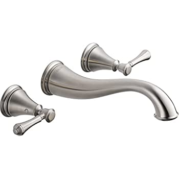 Moen T6107bn Kingsley Two Handle Low Arc Wall Mount