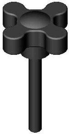 Hand Knob Assembly 2 Span 1//4-20 x 1 3//4 thd. 1 Each Flat Point