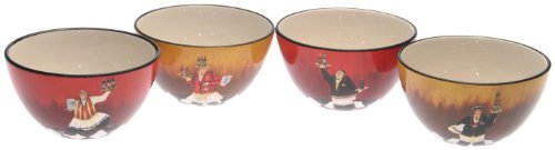 Certified International Bistro 5-1/2-Inch Ice Cream Bowl, Set of 4 Assorted Designs ()