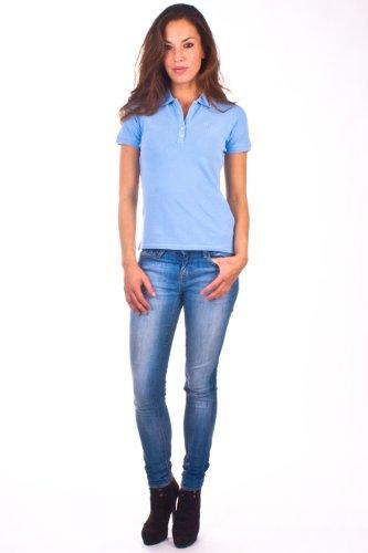 La Martina Damen Poloshirt klassisch blau R43