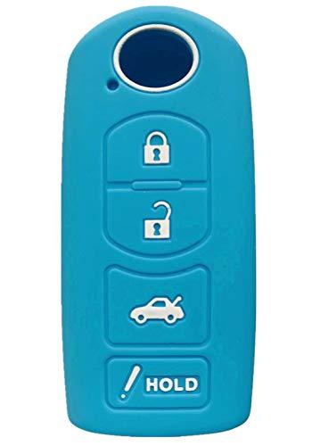 Rpkey Silicone Keyless Entry Remote Control Key Fob Cover Case protector For Mazda 3 6 CX-7 CX-9 MX-5 Miata KR55WK49383 WAZSKE13D01 GJR9-67-5RY 662F-SKE13D01(Wathet) ()
