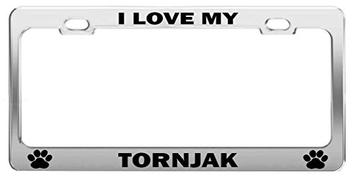 YEX I Love My Tornjak Dog Cat Lover Metal License Plate Frame Aluminum Frame Tag Holder 12