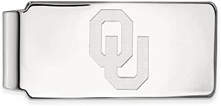 Sterling Silver LogoArt Official Licensed Collegiate University of Oklahoma (OU) Money Clip