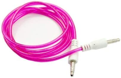 Hot Pink 3ft 3.5mm Plug Male to Male Stereo Auxiliary Aux Cord Cable