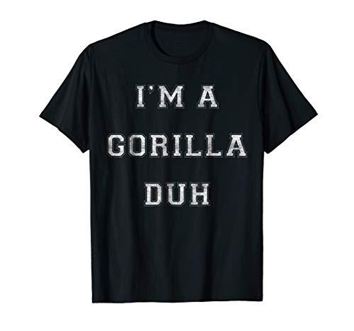 Easy Halloween Gorilla Costume Shirt for Men Women Kids