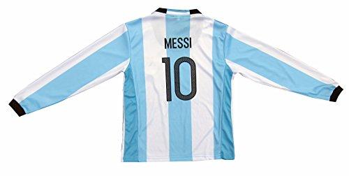 73670e600 Argentina Lionel MESSI  10 Home Long Sleeve Kids Soccer - Import ...