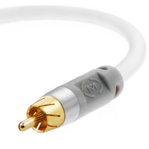 Digital Interconnect Audio Cable Series - Mediabridge Ultra Series Digital Audio Coaxial Cable (4 Feet) - Dual Shield - Gold-Plated - White - (Part# CJ04-6WR-G2)