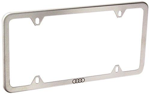 Genuine Audi ZAW071801D Slimline License Plate Frame with Audi Ring Slimline Plate Frames