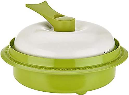 Range Mate Pro Deluxe Nonstick Microwave 5-in-1 Grill Pot Pan Cookware Set As Seen On TV Grill, Bake, Roast, Saute, Steam, Poach, One Pot Meals green