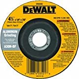 DEWALT DW8404 4-1/2-Inch by 1/4-Inch by 7/8-Inch Aluminum Grinding Wheel (25-Pack)