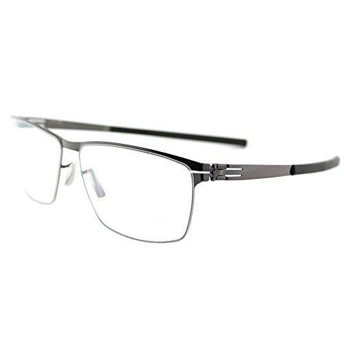 4c7214dc215 ic! berlin Sven H. Gunmetal Metal Rectangle Eyeglasses 57mm