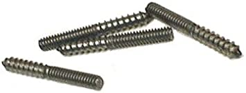 3//8-16 x 3 Qty 100 Stainless Steel Hanger Bolts 18-8 Stainless Steel 3//8-16 Thread