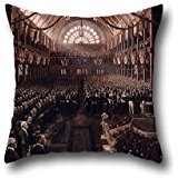Oil Painting Charles Nuttal - The Opening Of The First Commonwealth Parliament Pillowcase 20 X 20 Inches / 50 By 50 Cm Gift Or Decor For Bf,home Theater,outdoor,saloon,floor,festival - Double (How To Make A Saloon Girl Costume)