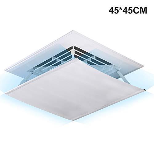 Wnuanjun, Alto Parabrisas Central Aire Acondicionado Protección contra el Viento Parabrisas Anti Directo soplado Parabrisas (Color : White 45x45cm): Amazon.es: Hogar