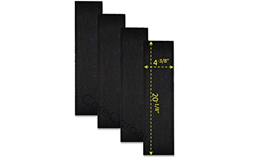 CoreCarbon 4-Pack Carbon Pre-Filter Designed to Fit Honeywell True HEPA Air Purifier Models HPA-150, HPA160, HPA161-TGT, HPA-245, HPA-249, HPA-248-TGT
