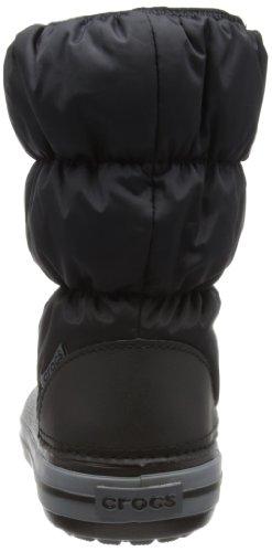 black Unisex Winter Crocs Da Puff charcoal Stivali – Kid Neve Nero Boot Bambini qf1P4qgwx