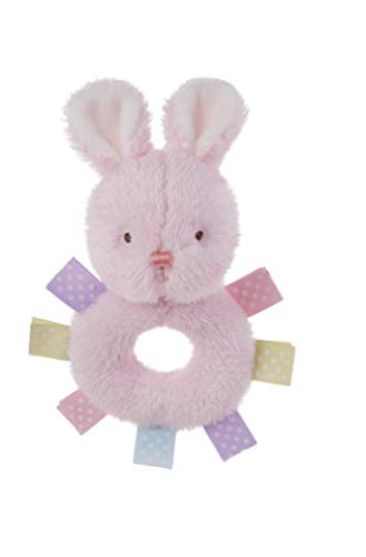 - Ganz Baby 6 Inch Wuzzies Ribbon Baby Rattle ~ Duck or Bunny (Bunny)