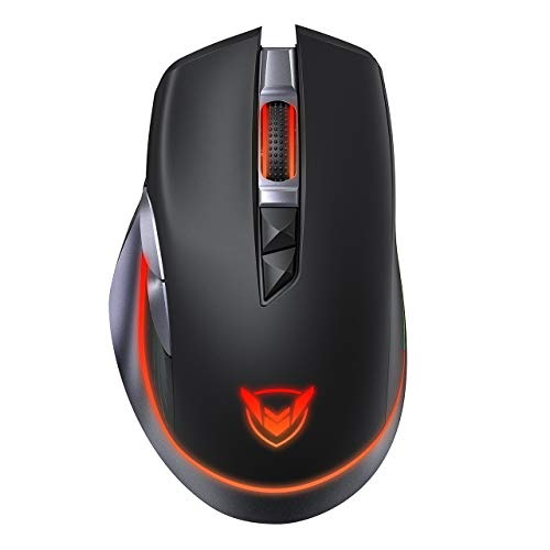 PICTEK Rechargeable Wireless Gaming Mouse, RGB Gaming Mouse, [10000DPI] [PMW3325] [1000HZ Polling Rate], Ergonomic Mouse, 8 Programmable Buttons, Fire Button, Type C Wired Mouse for Windows PC Gamer