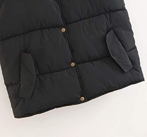Jacket Con Donna Esterno Da pantaloni Pocket Casual Vest Coat Collo Alla Nero Giacca Moda AZwRqYYz