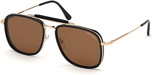 Tom Ford FT0665 Black/Brown Lens Sunglasses (Tom Ford Sunglass Lens)