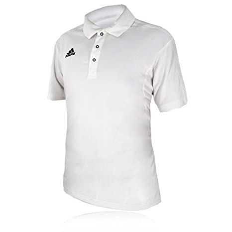 Adidas Manga Corta Cricket Polo Camiseta Blanca Blanco Blanco Talla:XX-Large - Adult: Amazon.es: Deportes y aire libre