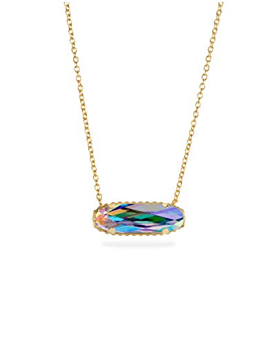 Luca + Danni Sterling Silver Willow Necklace in Crystal AB - 18kt Gold ()