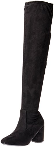 Rampage Women's Ram-Irkia Over The Knee Boot, Black Micro, 6 B (M) US