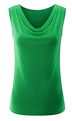 Women's Sleeveless Blouse (Green) - 7