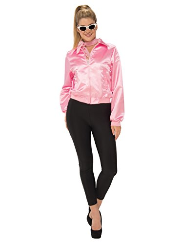 Pink Frenchie Wig (Rubie's Costume Co. Women's Grease, Pink Ladies Costume Jacket, As Shown, Small)