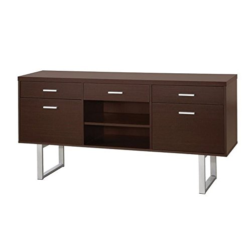 coaster 801522 home furnishings credenza, silver