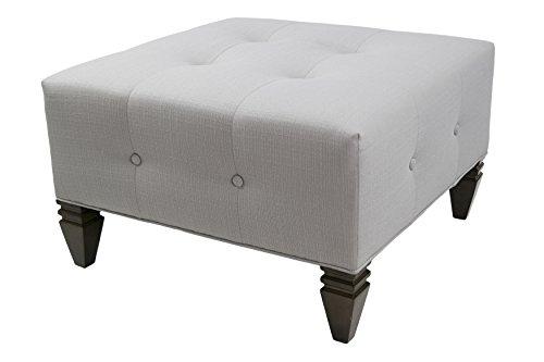 MJL Furniture Designs SachiPlatinum Nova Collection Square Ottoman, Platnium by MJL Furniture Designs