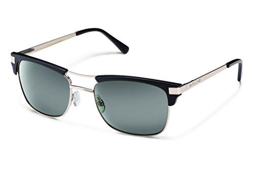 Suncloud Motorway Polarized Sunglasses, Matte Black Frame, Gray Lens
