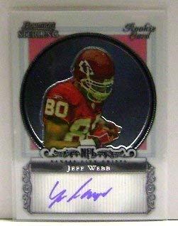 2006 Bowman Sterling #JWE Jeff Webb RC Auto NFL Football Trading Card 2006 Bowman Sterling Rc Auto