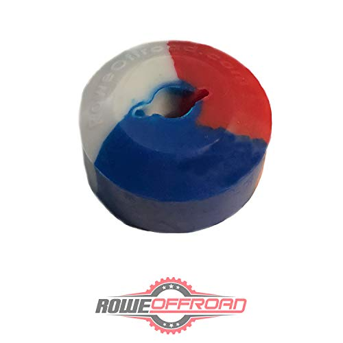 (ATV UTV Winch Fairlead Saver Rubber Line Stopper for Synthetic Rope - Patriotic Colors)