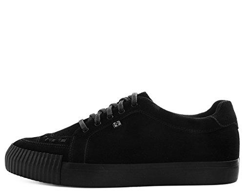 Tuk Chaussures A9361 Sneakers Unisexe-adulte, Daim Noir Point Pare-chocs Ezc