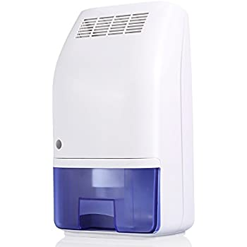Dehumidifier, 700ml Tank Large Air Inlet up to 215 Square Feet per Day Ultra Quiet Lightweight Portable Dehumidifier