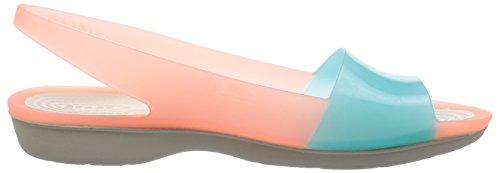 Flat Colorblock Pool Slingback Melon Crocs 7OwqEO