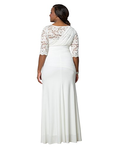 Kiyonna Women's Plus Size Elegant aisle Wedding Gown 5X Ivory