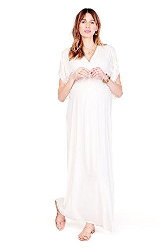 Ingrid & Isabel Kimono Maxi Maternity Dress - XL - Ivory by Ingrid & Isabel