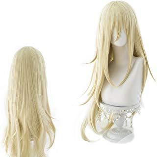magic acgn Angels of death Blonde Curly Long Party For Women ladies girls Cosplay Wig Halloween Wig   ()