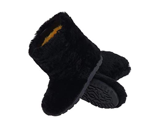 - Black Winter Boots for Women, Sheepskin Boots, Snow Boots, Furry Boots, Color Boots, Mukluks, Yeti Boots, Eskimo Boots, Gift for Her LITVIN